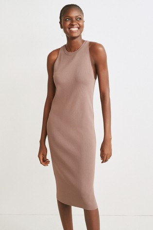 Taupe Co-ord Sleeveless Dress