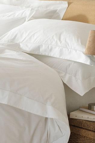 The Linen Yard White Oxford Egyptian Cotton Pillowcase