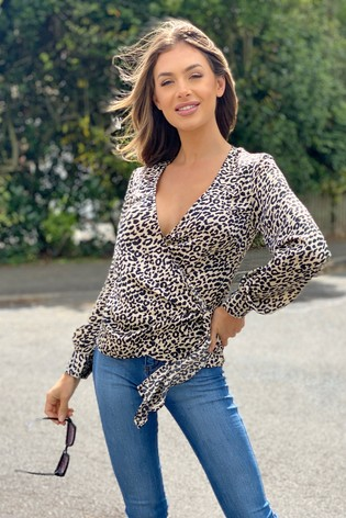 Lipsy Tie Front Wrap Blouse