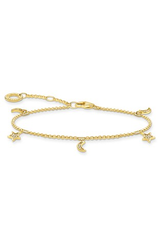 Thomas Sabo Gold Stars And Moons Bracelet