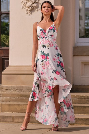 Lipsy Floral Printed Buckle Maxi Dress