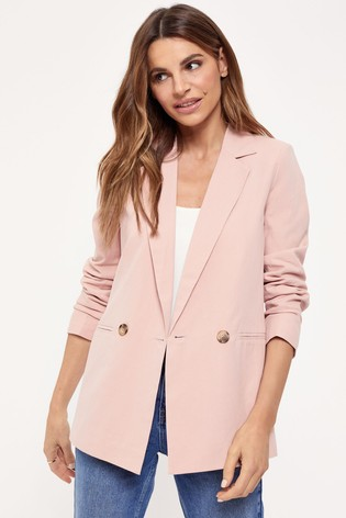 Lipsy Pink Relaxed Style Blazer