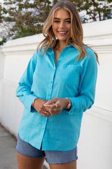 Lipsy Blue Regular Oversized Shirt