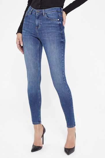 Lipsy Authentic Blue Regular Mid Rise Skinny Kate Jean
