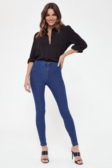 Lipsy Mid Blue Regular High Rise Skinny Selena Jean