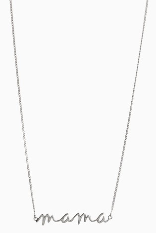 Sterling Silver Mama Necklace
