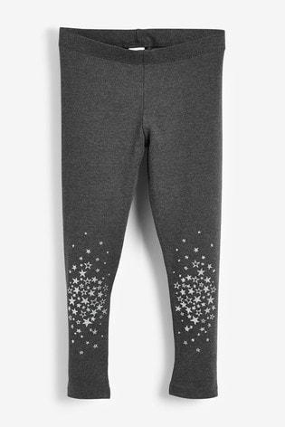 981edea581 Charcoal Star Knee Leggings (3-16yrs)