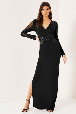 378d1cfcbfe3 Buy Lipsy Cornelli Matte Sequin Long Sleeve Maxi Dress from Next Australia