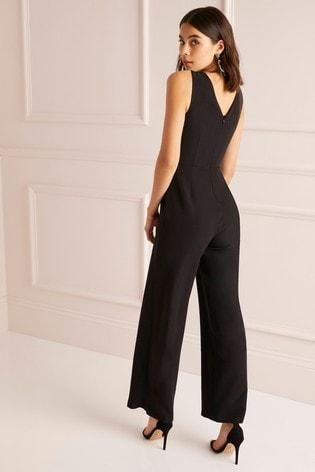 f48361da01 Buy Lipsy Petite Cross Front Wide Leg Jumpsuit from Next Australia