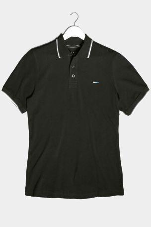 BadRhino Black Essential Tipped Polo Shirt