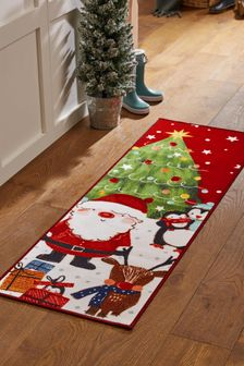 Washable Santa Christmas Runner