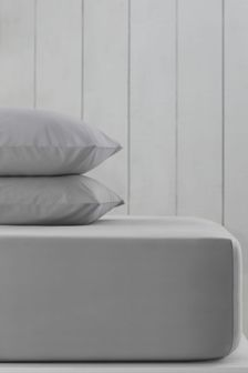Silver Grey Cotton Rich Extra Deep Fitted Sheet