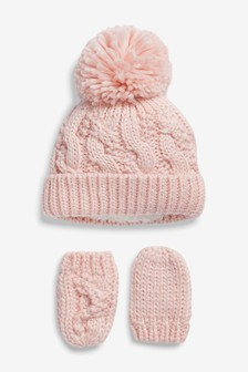 Hat And Gloves Two Piece Set (Younger)
