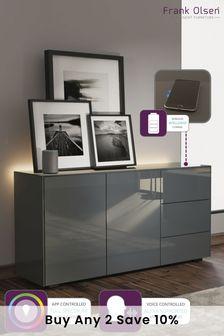 Frank Olsen Smart LED Grey Sideboard
