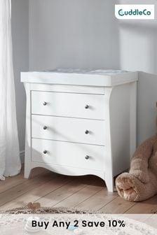 Clara 3 Drawer Dresser & Changer In White By Cuddleco