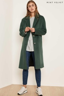 Mint Velvet Green Chuck On Coloured Coat