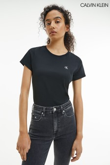 Calvin Klein Jeans Womens Slim Fit Embroidered T-Shirt