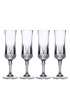 Set of 4 Barcraft Acrylic Champagne Flutes