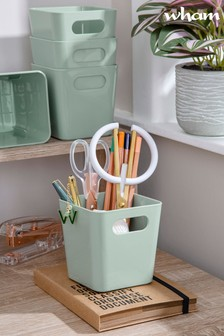 Set of 5 Wham Studio Square Plastic Storage Baskets