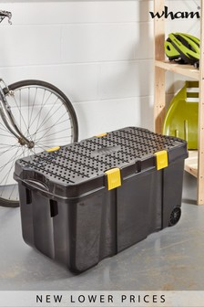 Wham DIY 100L Plastic Storage Tough Cart