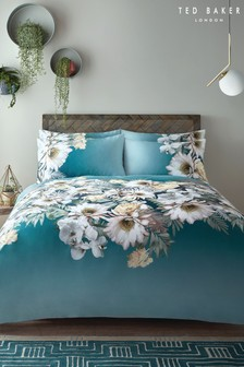 Ted Baker Teal Woodland Floral Duvet Cover