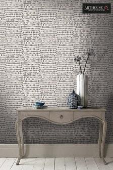 Arthouse Grey Tribal Abstract Wallpaper