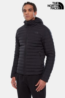 The North Face Men's Black Stretch Down Padded Hooded Jacket
