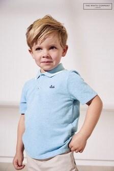 The White Company Blue Boat Polo Shirt