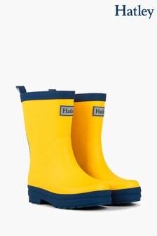 Hatley Yellow Matte Rain Boots
