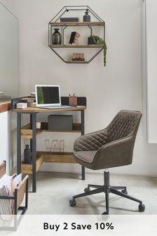 Hamilton Arm Office Desk Chair with Black Base