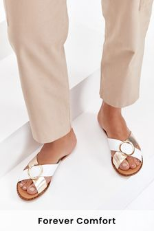 Forever Comfort® Cross Over Mule Sandals