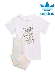 adidas Originals Infant Marble T-Shirt And Legging Set