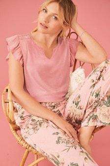 Lace Trim Pyjamas