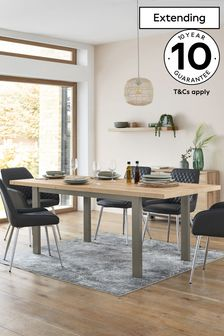 Bronx Oak Effect 6 to 8 Seater Extending Dining Table