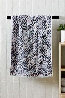 Teal Polka Dot Towel
