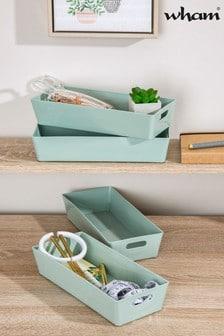 Set of 4 Wham Studio Rectangle Plastic Storage Baskets