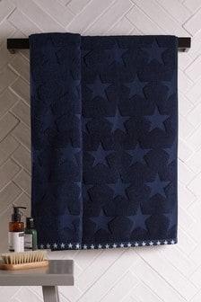 Navy Blue Star Towel