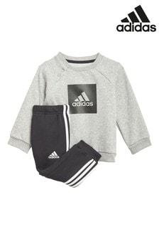 adidas Infant Grey Crew And Joggers Set