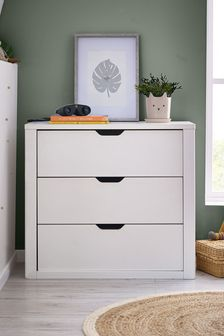 Compton White  Chest of Drawers