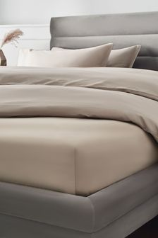 Mink Natural 300 Thread Count Collection Luxe Deep Fitted 100% Cotton Sheet