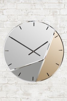 XL Mixed Metallic Wall Clock