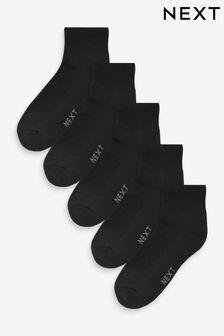 Mid Cut Sports Socks Five Pack