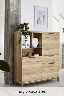 Bronx Oak Effect Cabinet with Drawer