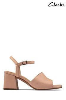 Clarks Light Pink Lea Sheer65 Block Sandals
