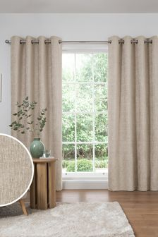 Heavyweight Chenille Eyelet Curtains