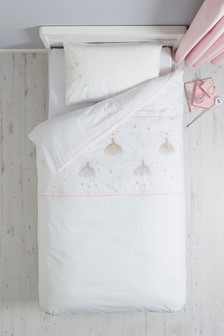 Florence The Fairy Embroidered Duvet Cover and Pillowcase Set