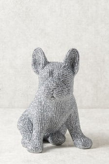 Diamanté Effect Dog Sculpture