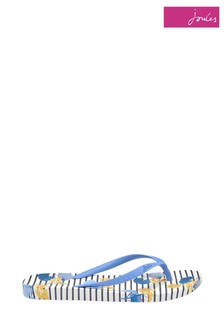 Joules Blue Flip Flop With Moulded Footbed