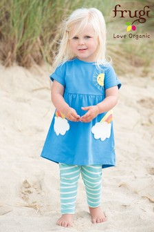 Frugi Organic Rainbow Tunic And Leggings Set