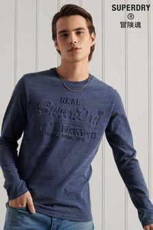 Superdry Vintage Logo Emboss Long Sleeve T-Shirt